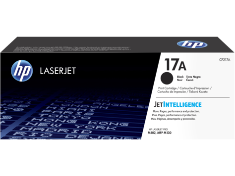 Mực in HP 17A Black Original LaserJet Toner Cartridge (CF217A)